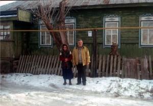 Василий Рудковский с женой Екатериной (миссионеры из Белоруссии на Украине. Молитвенный дом. 2008 год)